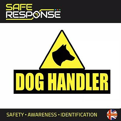 DOG HANDLER 200mm Sticker K9 Unit DOGS SECURITY SIA PATROL x2 Pair Guard ST0062