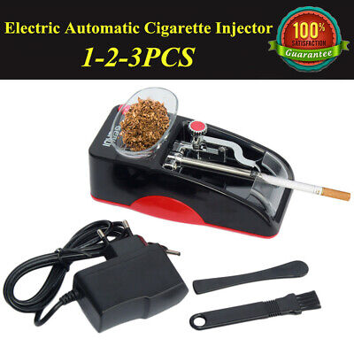 1-3PC Electric Automatic Cigarette Injector Rolling Machine Tobacco Maker Roller