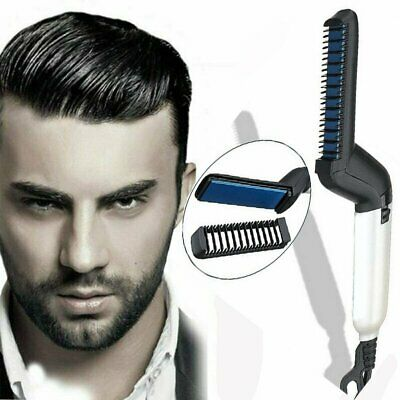 Quick Beard Straightener Curler Curling Cap Multifunctional Hair Comb Show CombD