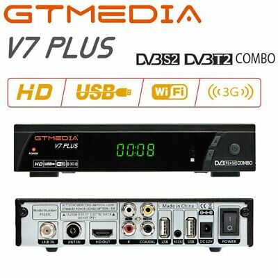 GTmedia V7 PLUS DVB-S/S2+T/T2 Satellite Receivers FTA Full HD H.265 Decoder