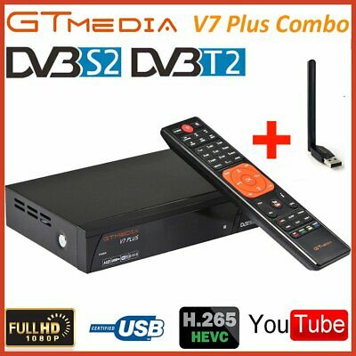GTmedia V7 PLUS DVB-S/S2+T/T2 Satellite Receivers FTA Full HD H.265 Decoder+WIFI