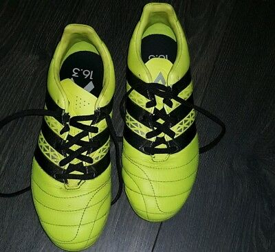 new style 88493 ebdbb Adidas Ace 16.3 FG Firm Ground BOYS Football Boots Size Uk 4.5 Yellow
