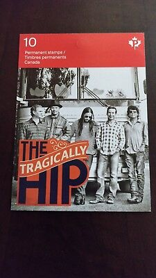 TRAGICALLY HIP STAMPS (Canada) - One booklet of 10 stamps - NEW