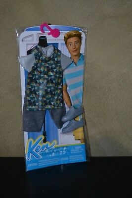 2015 Barbie Doll  Life In The Dream House Ken Doll Geometric Print Top