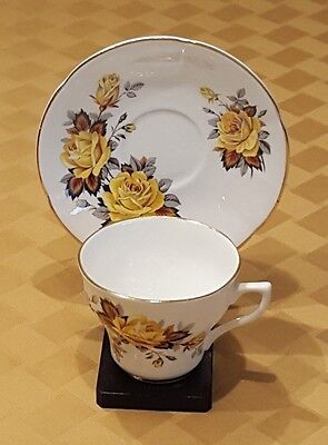 ROSINA Company Bone China 'Yellow Rose' Cup and Saucer Set – Made in England