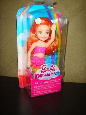 Barbie Doll 2017 Dreamtopia Chelsea Doll Rainbow Mermaid With Orange Hair