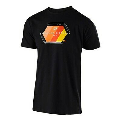 New Adult Troy Lee Designs TLD Technical Fade T-Shirt Motocross Black S M L XL
