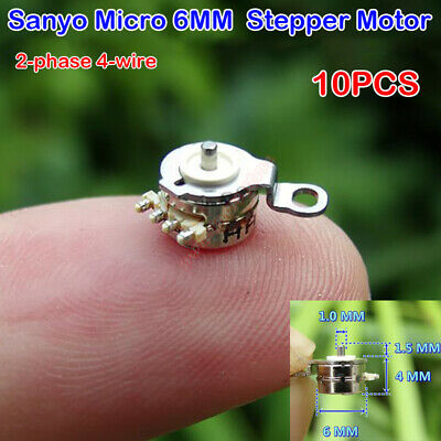 10PCS Sanyo 2-phase 4-wire Micro 6mm Stepper Motor Precision Mini Stepping Motor