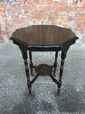Late 19Th Century Antique Shaped Two-Tier Occasional Side Table - Lamp Table