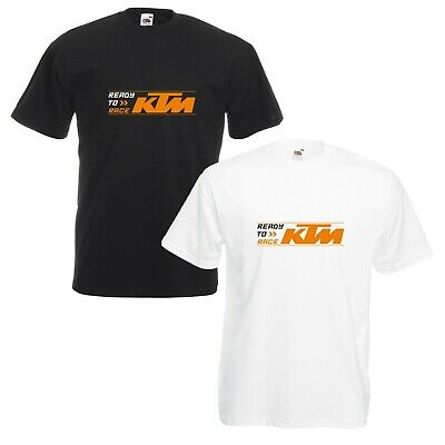 KTM Ready To Race T-Shirt Biker Motorcycle Rider VARIOUS SIZES & COLOURS