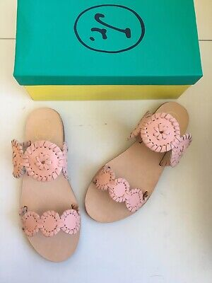 30a5312b62f JACK ROGERS GIRLS miss Lauren blush pink sandals size 3 youth new ...