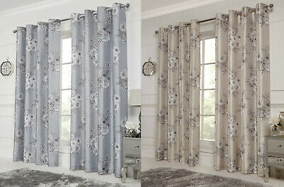 CLEARANCE Grace Lined Eyelet Curtain Pairs - FREE DELIVERY