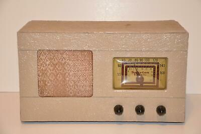 Antique Sparton Sparks-Withington Model 6CL66 6-66A Tube Radio 1948 Working!