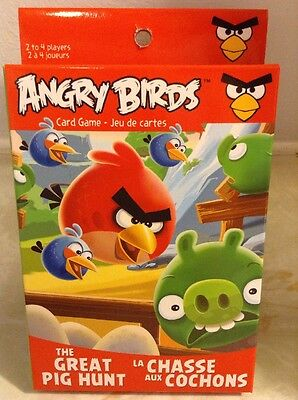Angry Birds Card Game The Great Pig Hunt 2-4 Players New
