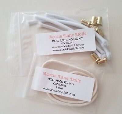 American Girl Doll Restringing Kit w/Instructions & Neck String Cord Set TLC