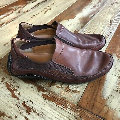 best website dd615 e1f23 COLE HAAN NIKE AIR G SERIES Brown LEATHER SLIP-ON Driving LOAFER Men ...