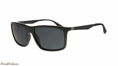 dc83c4f2947 Ray Ban Mens Sunglasses RB4228 618587 Shiny Grey Dark Grey Lens 58mm  Authentic