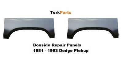 1981 - 1993 Dodge Pickup Truck Boxside Wheel Arch Repair Panels Both Sides