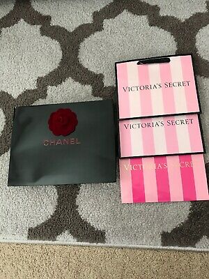 259360a6e2a2 Chanel Paper Bag With Camelia Flower & 3 Small Victoria's Secret Paper Bags  Lot4