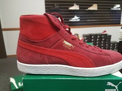 ed1839b83042 Brand New in Box Men PUMA Suede Mid Classic Sneakers 356340-18 Rio-Red