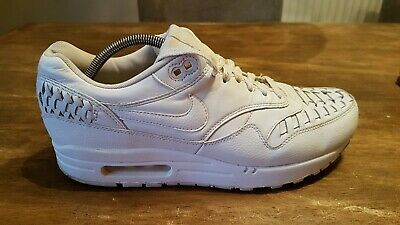 Details about Nike Air Max 1 Woven 'White' 725232 100 Mens Sz 9 Leather