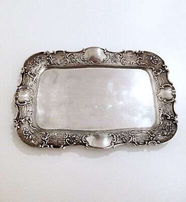 Altes Tablett aus 800er Silber ca. 1920 Jugendstil / Art Deco Silver Tray 205g