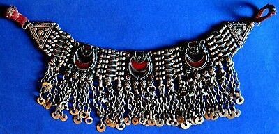 OTTOMAN SILVER Adornment  HEAD NECKLACE , ALL 212 gr Hand crafted chains