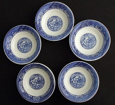 Blue Willow 5 Cereal, Soup Bowls