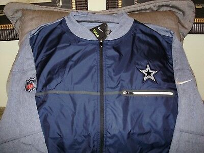 NFL Dallas Cowboys Nike Shield Navy Blue Full Zip Golf Hybrid Jacket Men s  Large 1f01b866a