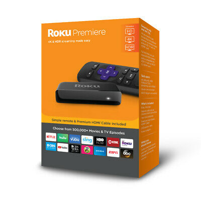 Roku Premiere 4K HDR Streaming Player Ultra HD Watching TV Stream Movie Video