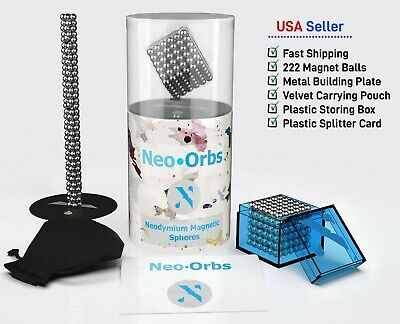 Neo-Orbs Original 5mm Magnetic Neodymium Magic Beads 222 Pieces Magnet Balls