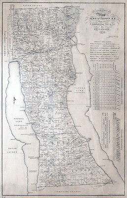 Map Of New York 1850.1850 Map Of Seneca County New York Large 34 X 52