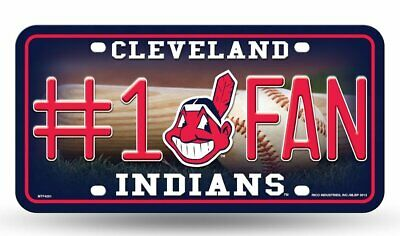 Cleveland Indians #1 Fan Metal License Plate Tag Wall Sign Cave FAST SHIP
