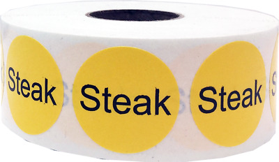 Pork Deli Cafeteria Grocery Stickers 500 Labels on a Roll 1 Inch Round