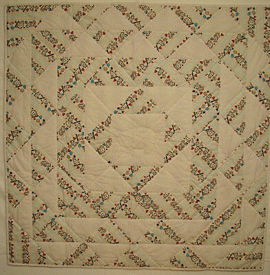 Baby Quilt Handmade Pieced Hand Quilted Pig Fabric HMJQuiltsPlus