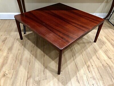 Mid Century Danish Modern Rosewood Coffee Table By Vejle Stole