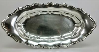 Old GORHAM Sterling Silver A6535 Pattern Bread Serving Tray Dish Platter No Mono