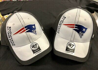 super popular 2a5e4 80a08 2019 New England Patriots 47 Brand Super Bowl 53 LIII Champions Hat Cap