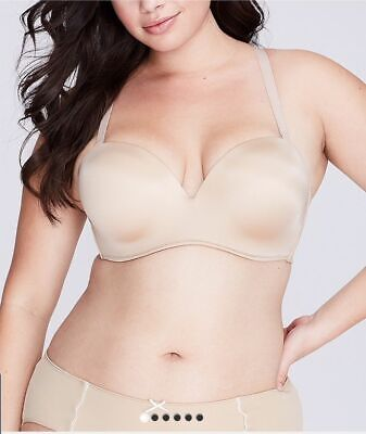 2d2f8f931d New  60 Lane Bryant Cacique Smooth Boost Multi Way Strapless Bra 38F