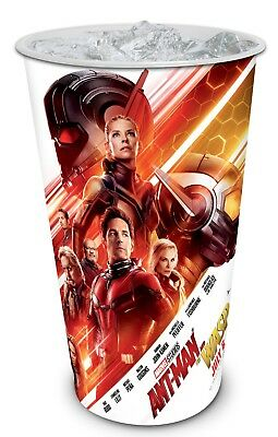 6 CUPS Ant Man Wasp Movie Theater Cups 44 oz ea Marvel Super Hero FREE SHIP