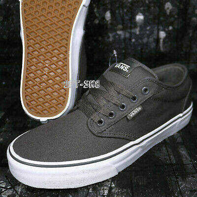 651cd02005 VANS ATWOOD CANVAS Pewter Grey gray White Men s Skate Shoes  s92150 ...