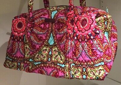 189d50bdd6 VERA BRADLEY SMALL DUFFEL Resort Medallion Pattern TRAVEL GYM QUILT  FOLDABLE BAG
