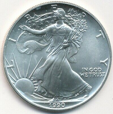 1990 American Eagle 1 Oz .999 Fine Silver U.s. Coin Exact Shown