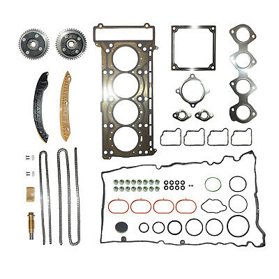 Cylinder Head Gasket & TIMING CHAIN ADJUSTER set FOR Mercedes Benz M271 1.8 L