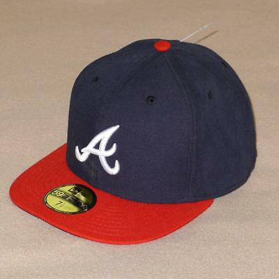 New Era 59FIFTY Atlanta Braves Fitted Baseball Cap Flat Visor Hat -  35 NWT! e1fd3af53a5