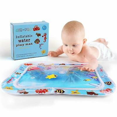 Inflatable Water Mat Fun Activity For Infant Baby Tummy Time Large 26X20 Sea Toy