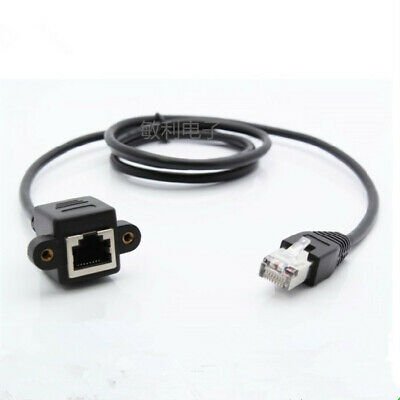 5pcs 2m 6.5ft 78inch rj45 Male to Female panel mount Ethernet LAN Network Cable