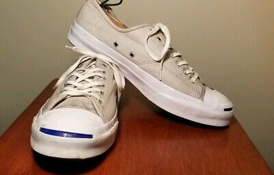 f856b949ad8cb9 Converse Jack Purcell Signature OX Dolphin Gray White Low Top Sneaker Size  11