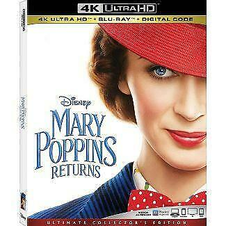 Mary Poppins Returns 4K UHD Blu-ray Free Shipping PreOrder Release 03/19 Note