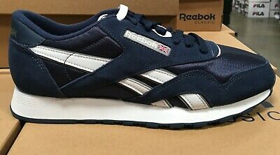 c3a637eee0a Reebok CLASSIC NYLON Men Running Shoes 39749 Team Navy Platinum Fast  Shipping S